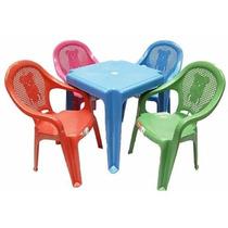 Conjunto De Mesa Com Cadeiras Plástica Infantil Criança Kit