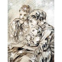 Lienzo Tela Joven Madre François Boucher Arte Rococó 80 X 60