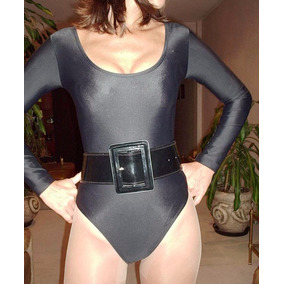Sexy Mallot, Catsuit Ó Torso De Lycra Negro Talles S, M Y L