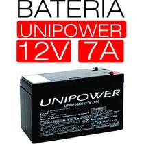 Bateria 12v 7a Selada Unipower Nobreak Alarme Cerca Elétrica