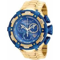 Relógio Invicta 21361 Thunderbolt Original Dourado Azul Iv52