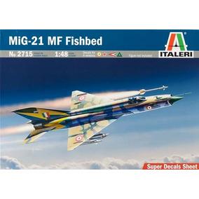 Avião Mig-21 Mf Fishbed 1/48 Kit Miniatura Italeri P/ Montar