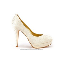 Sapato De Noiva Bordado C/ Pérolas N 39/40 Mya Haas