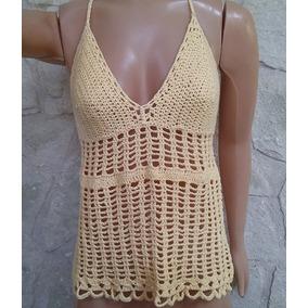 Unico!!! Top Tejido Crochet Artesanal!!!