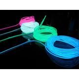 Fio Luz Neon Led 5 Mts C/controle 3v *el Wire