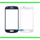 Mica Samsung S3 Mini I8190 I8200 Vidrio Azul Negro Y Blanco
