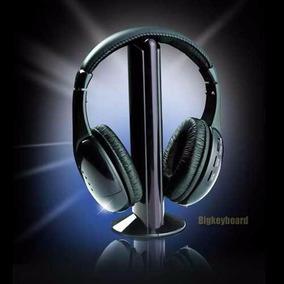 Fone De Ouvido Sem Fio Wireless 5 In 1 Mp3 Pc Tv Dvd Msn Mp3