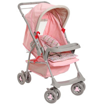 Carrinho De Bebê Galzerano Milano Reversível 1015 - Rosa
