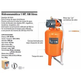 Hidroneumática 1 Hp 100 Litros