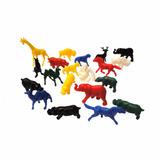Kit 40 Animais Zoológico Colorido Plástico Bichos Brinquedo