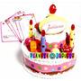 Torta De Cumpleaños Juliana Chica Con Luz Y Sonido Original