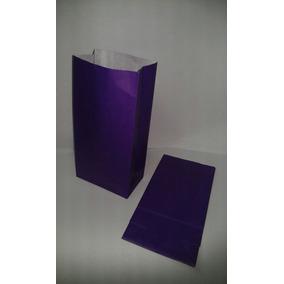 Bolsa De Papel Violeta Lisas Tipo Sobre ( X 10 )
