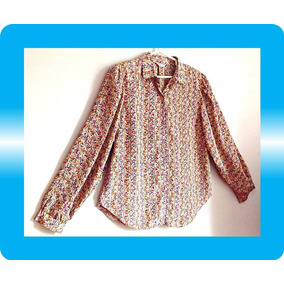 Nueva Blusa Seda Decoraciones Floreada Modelo Nuevo Dkz