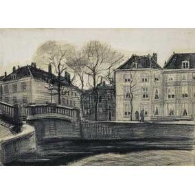 Van Gogh - Puente Y Casas En La Haya - Lámina 45x30 Cm.