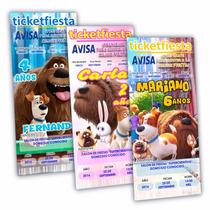 50 Invitaciones Impresas Mascotas ¡en Oferta!
