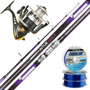 Equipo Pesca Pejerrey Kunnan Aitue 4.20m + Reel Century 202