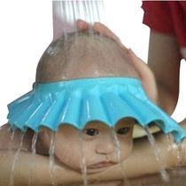 Visera Protectora De Ojitos Y Orejas Para El Baño Del Bebe