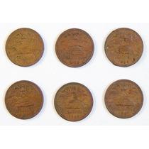 6 Monedas De Colección De México 20 Centavos De 1960 A 1967