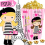 Kit Imprimible Paris Cumpleaños Nena Cotillon Candy Bar 2x1