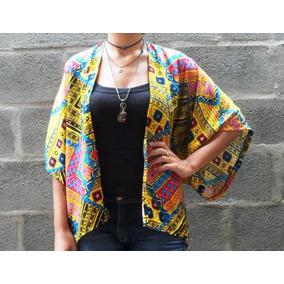 Comprar Kimono Feminino Étnico Com Franja Crochê Outono 2017