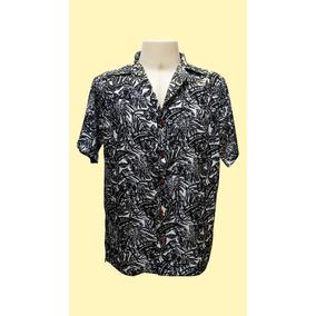 Camisa Masculina Hawaiana Em Seda ´´0194´´gg
