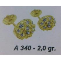 Aros De Oro 18 K Frutilla