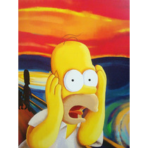 Quadro Decorativo Homer Simpson 60cm X 40cm