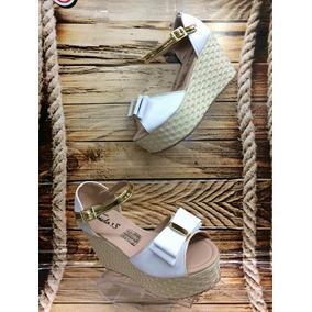 Sandalia Plataforma Bajita Blanca Mujer Fabricantes Calzado