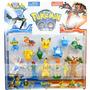 Play Set Pokemon Go Pikachu Muñecos X13 Ash Regalo Navidad