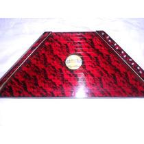 Cítara Mini Harpa Vermelha Acompanha 10 Partituras Grátis