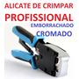 Alicate Crimpar Profissional Rj45 Rj11 Rj12 Catraca 2flex
