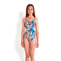 Malla Natacion Speedo Bubble Fish Allover Infantil Nena