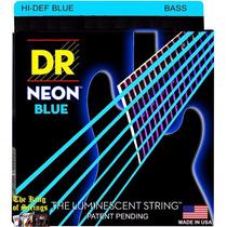 Encordoamento P/ Baixo De 6 Cordas Dr Neon - Azul