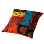 Capa Para Almofada Patchwork Colorido Em Tecido - 40x40 Cm