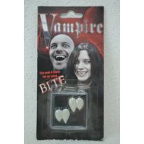 Comillo Doble Vampiro Dracula Maquillaje Medianos Reusables