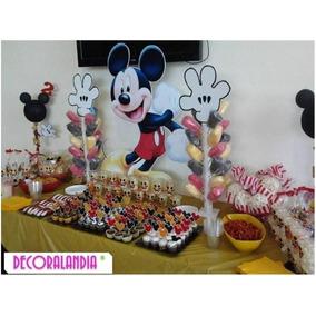 Personajes Madera Fiestas Infantil Frozen Pocoyo Mickey Cars