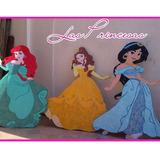 Princesas De Disney.decoraciones En Anime O Mdf