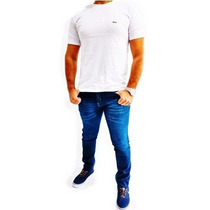 Kit Com 2 Calças Masculina Skinny Com Lycra Grandes Marcas