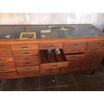 Mueble Antiguo, Única Cajonera De 30 Cajones, Cedro