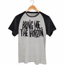 Camisa Raglan Bring Me The Horizon Bandas Rock