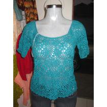 Blusas Hilo Cristal Tejidas A Mano, Varios Colores Y Diseños