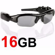 Óculos Espião De Sol Escuro Micro Câmera Espiã Micro Sd 16gb