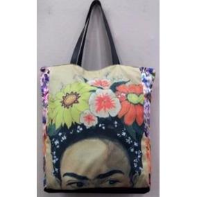 Bolsas Sacola Caveira Frida Kahlo Couro Sarja + Modelos