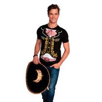 Playera Caballero Charro Mariachi. Disfraz Fiesta Mexicana