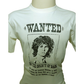 Camiseta The Doors Jim Morrison Wanted Procurado Tamanho P