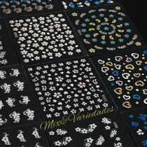 Kit Com 400 Adesivos Decoração E Desenhos Para Unhas Em 3d