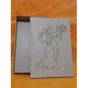 Caixa Para Noivos Dançando C/ Buque -gde