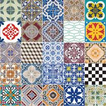 Adesivo Azulejo Português Ladrilho Hidráulico 15x15 Ou 20x20