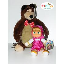 Boneca Masha E Urso Grande Tocam Músicas Kit Com 2 Pelúcias