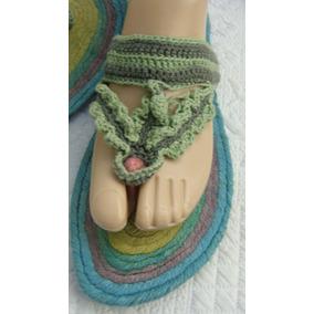 Sandalias Ojota 40 Tejido Crochet (ana.mar)